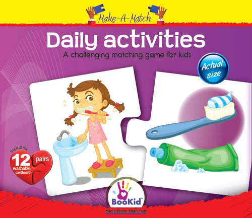 Make a Match - DAILY ACTIVITIES Matching Game with 12 Matching Pairs