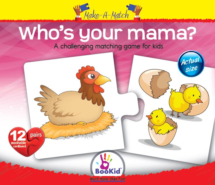 Make a Match - WHO'S YOUR MAMA Matching Game with 12 Pairs