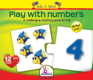 Make a Match - PLAY WITH NUMBERS Game with 12 Pairs