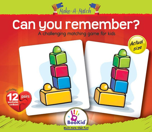 Make a Match - CAN YOU REMEMBER Game with 12 Pairs