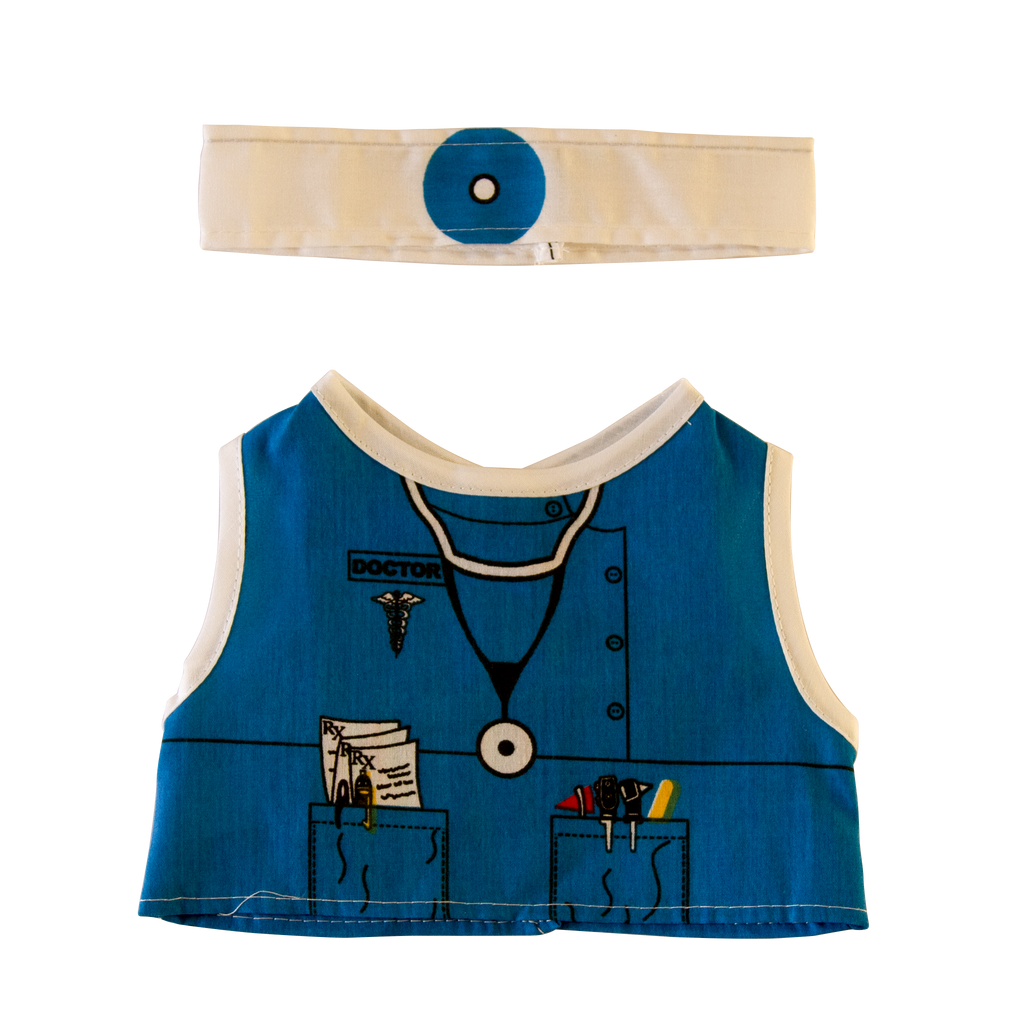 Toy Doctor Costume Front and Headband