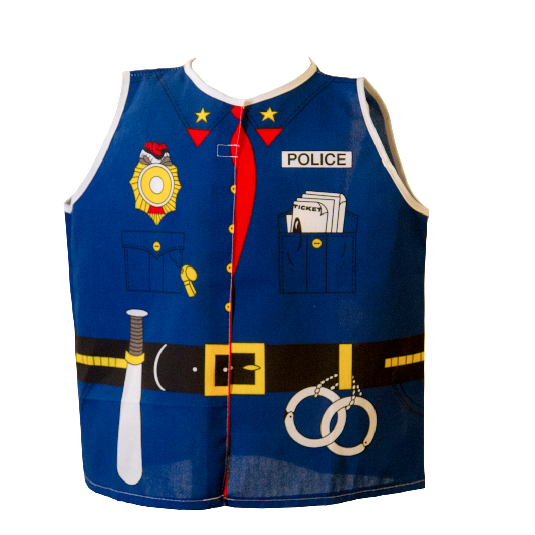 Toddler Police Costume Front