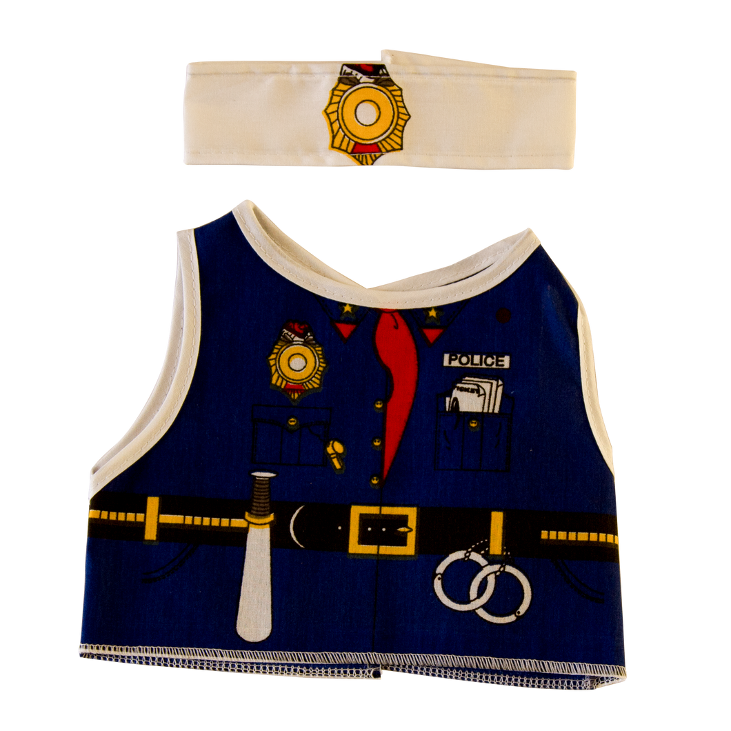 Toy Police Costume Front and Headband