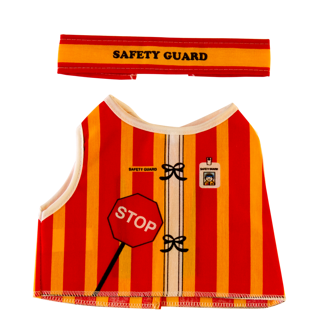 Toy Safety Guard Costume Front and Headband