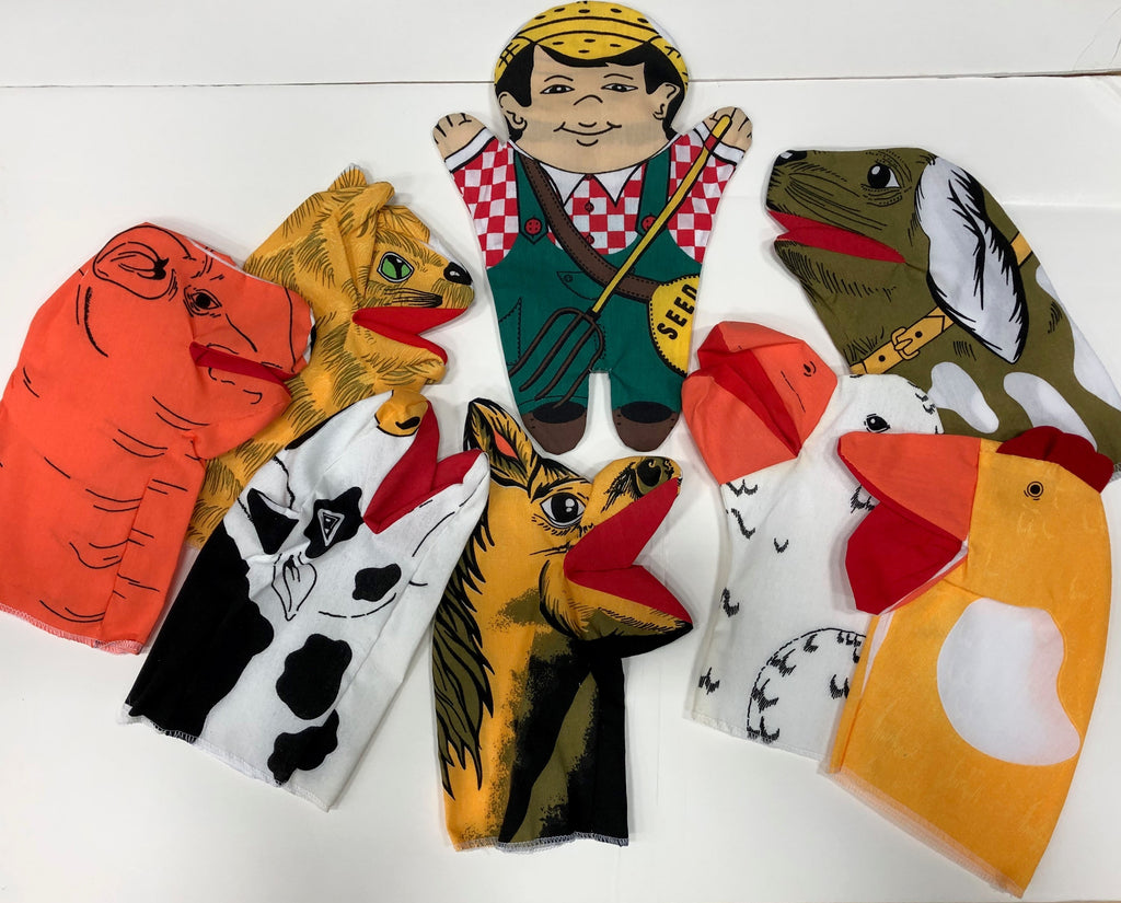 Old MacDonald Set of 8 Hand Puppets