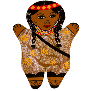 Native American Woman Hand Puppet Front