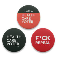 Health Care Voter Button 3-Pack