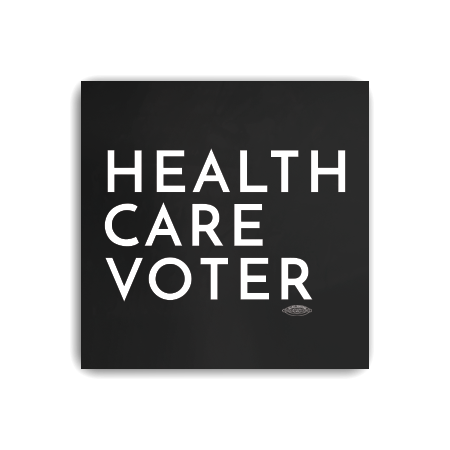 Health Care Voter Square Sticker