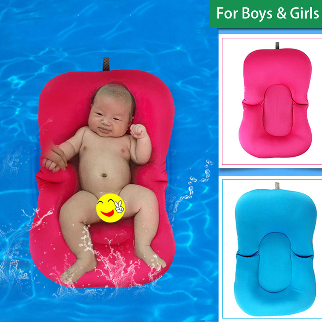 Baby Bath Tub Pillow Pad Lounger Air Cushion Floating Soft Seat ...