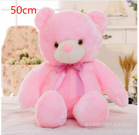 Luminous Night Light Glow Teddy Bear Led Colorful Stuffed Animals