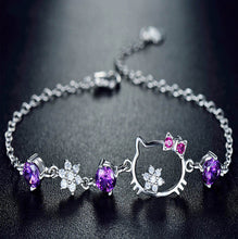 Cubic Zirconia AAA Austria Crystal Bracelets, Jewelry 100% Real S925 Sterling Silver