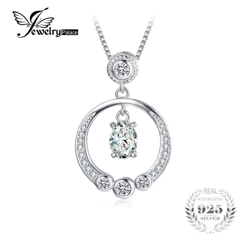 1.3ct Cubic Zirconia Pendant Genuine 925 Sterling Silver-Not Include A Chain