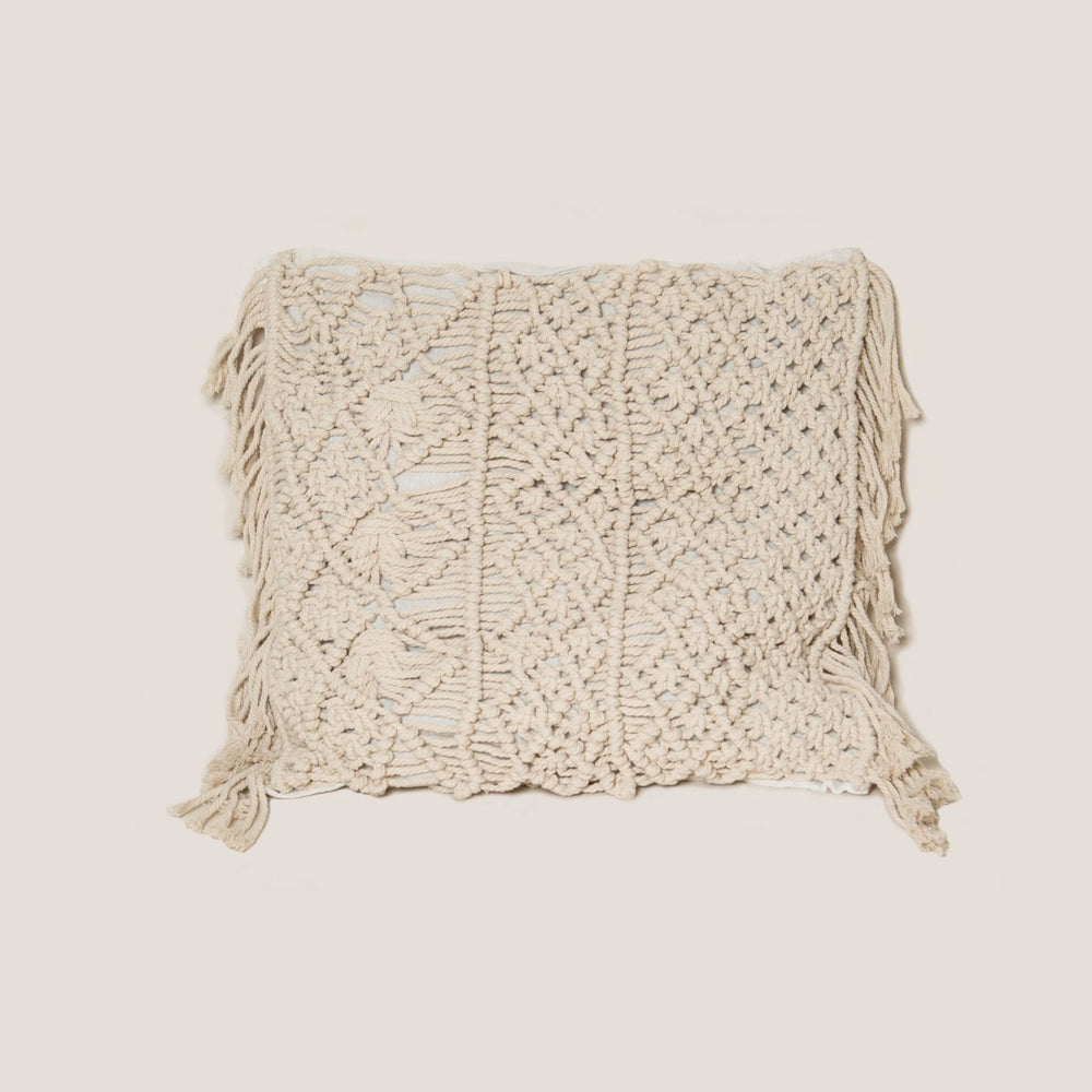 "20"" x 20"" Macrame Pillow"