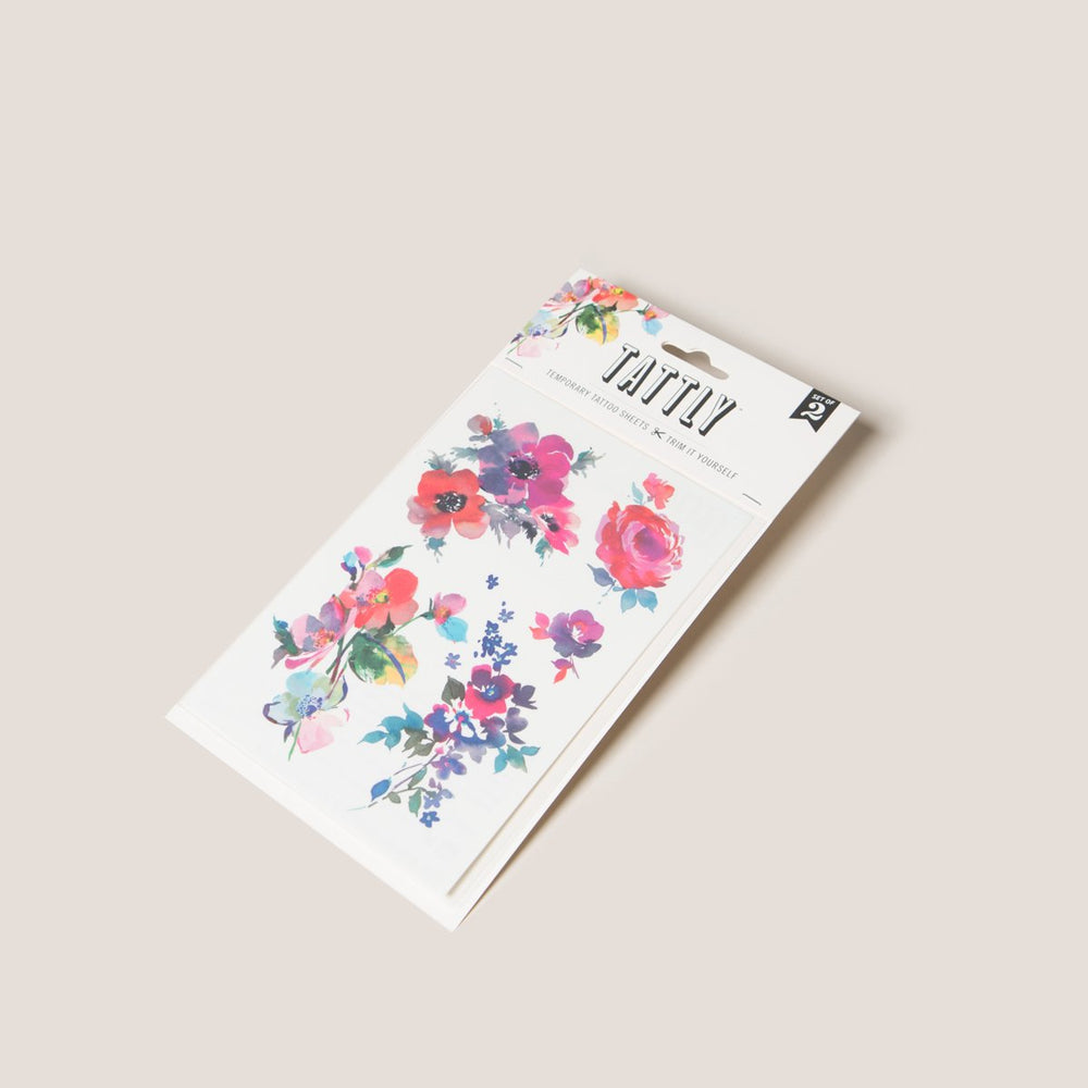 Assorted Temporary Tattoos, Floral + Remix