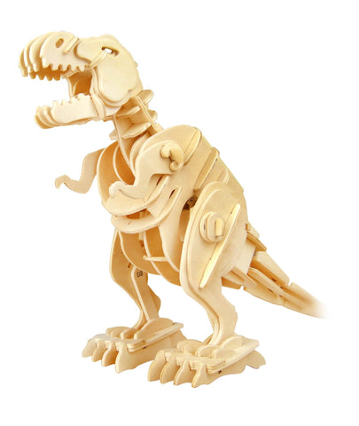 Hands Craft D210 DIY 3D Wooden Puzzle Sound Control Walking T-Rex