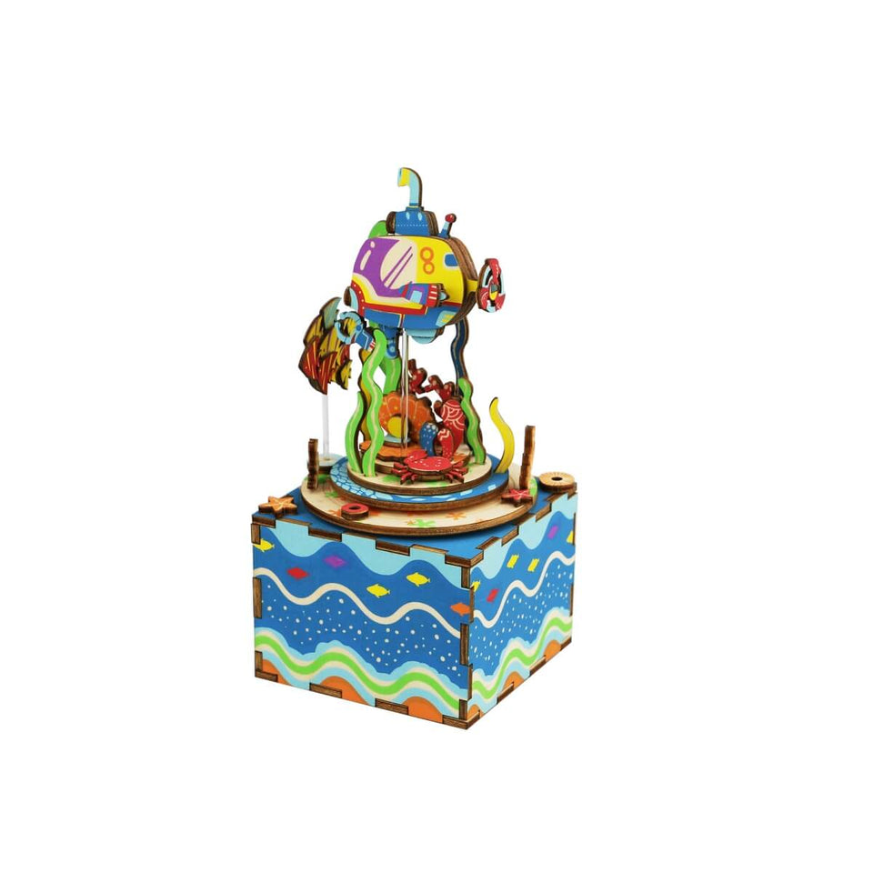 AM406 DIY 3D Wooden Puzzle Music Box: Under The Sea