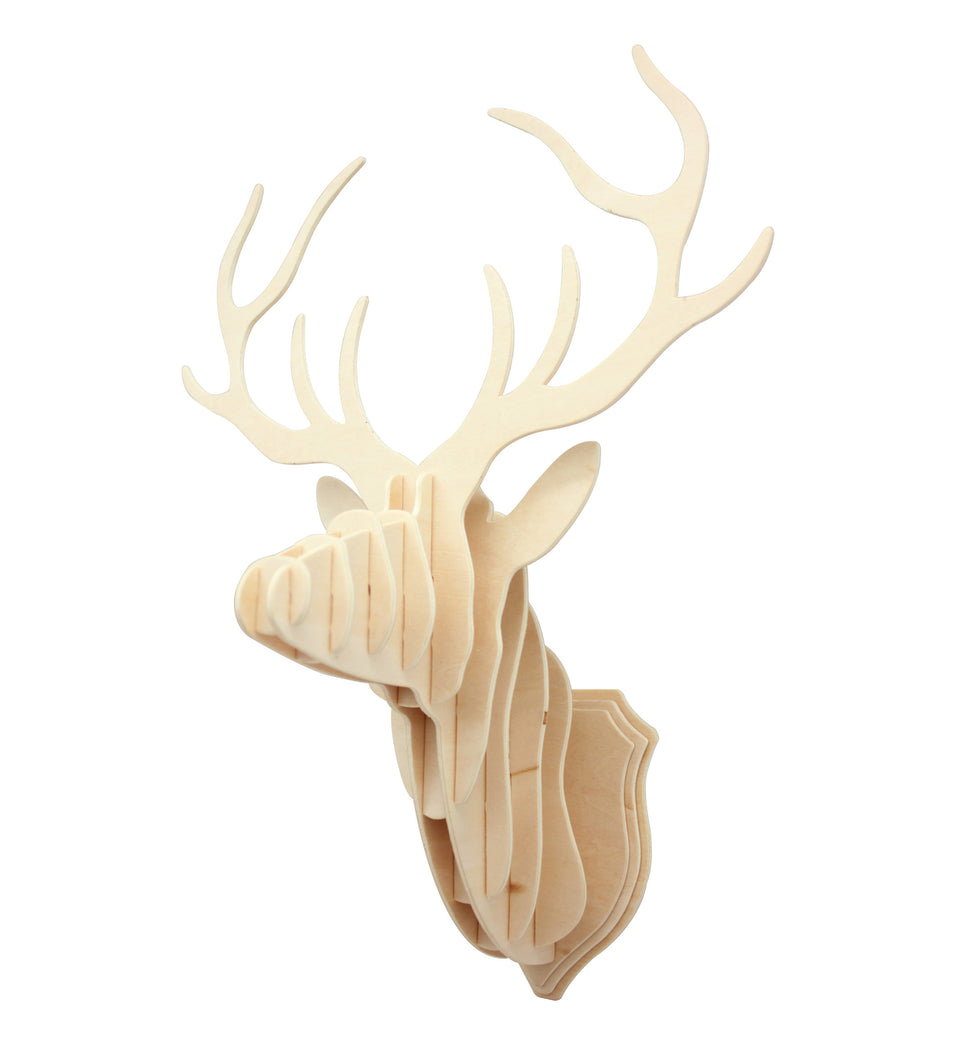 Hands Craft AW301 DIY 3D Wooden Puzzle: Deer head Wall Mount
