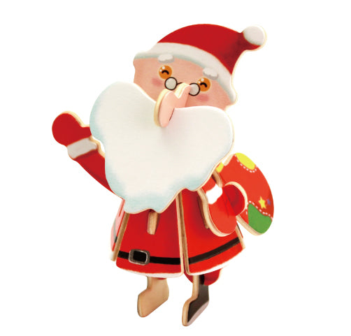 Hands Craft CH101 DIY 3D Wooden Puzzle: Santa Claus
