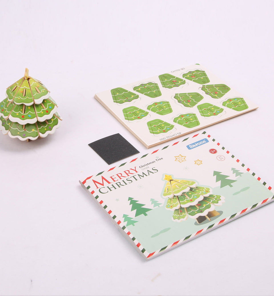 Hands Craft CH102 DIY 3D Wooden Puzzle: Xmas Tree