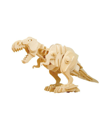 Hands Craft D220 DIY 3D Wooden Puzzle Sound Control Biting T-Rex