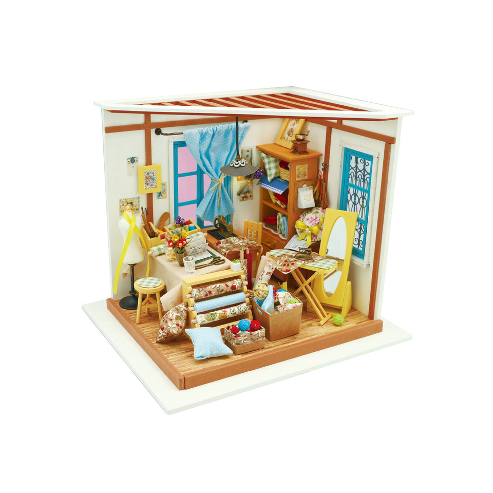 DG101 DIY 3D Wooden Puzzle Miniature House: Tailor's Shop