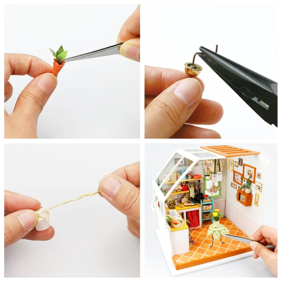 DG105 DIY 3D Wooden Puzzle Miniature House: Jason's Kitchen