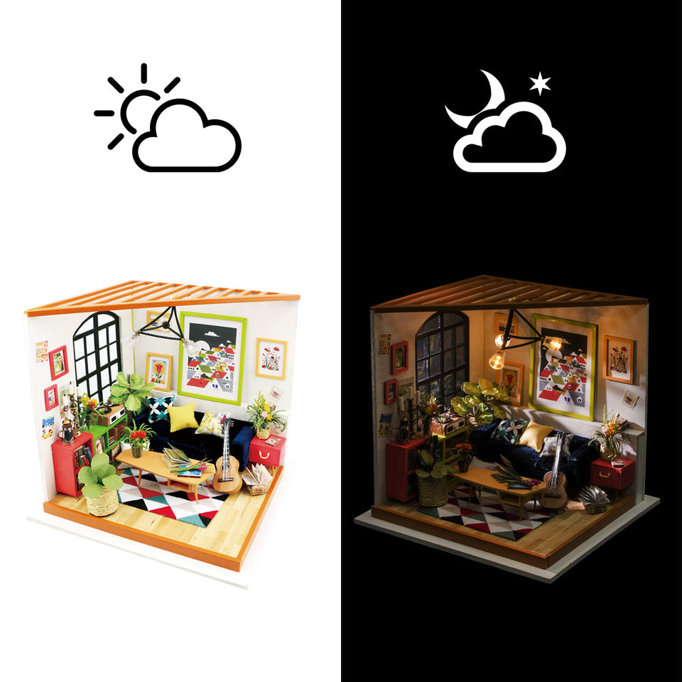 DG106 DIY 3D Wooden Puzzle Miniature House: Locus' Sitting Room