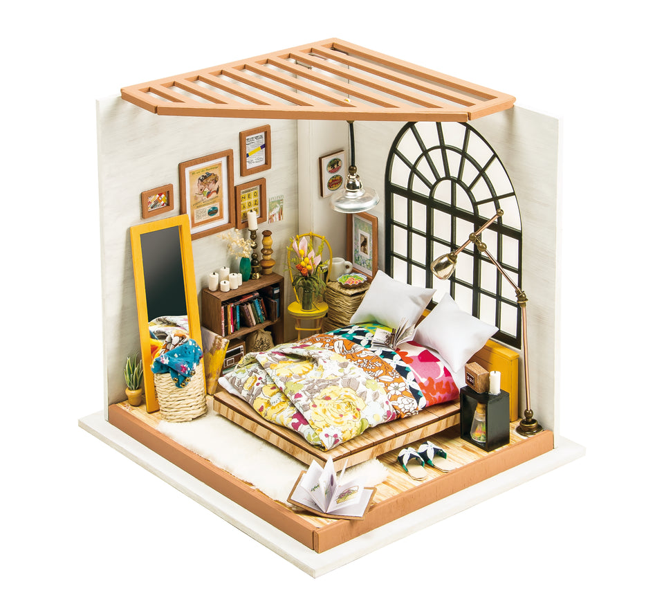 DG107 DIY 3D Wooden Puzzle Miniature House: Alice's Dreamy Bedroom