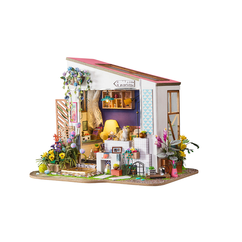 DG11 DIY 3D Wooden Puzzle Miniature House: Lily's Porch