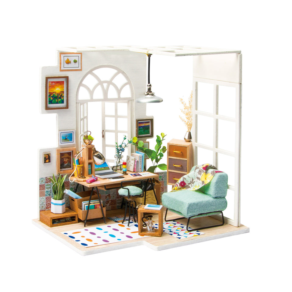 DGM01 DIY 3D Wooden Puzzle Miniature House: SOHO Time