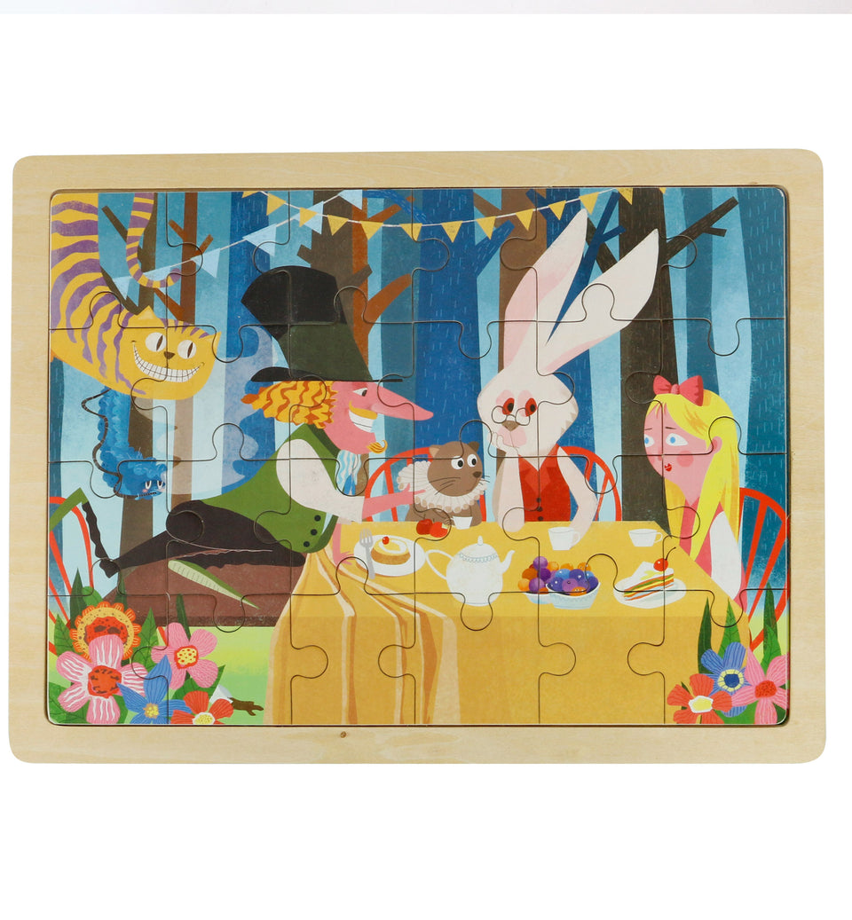 Hands Craft DY2401 Wooden Jigsaw Puzzle 24pc: Alice