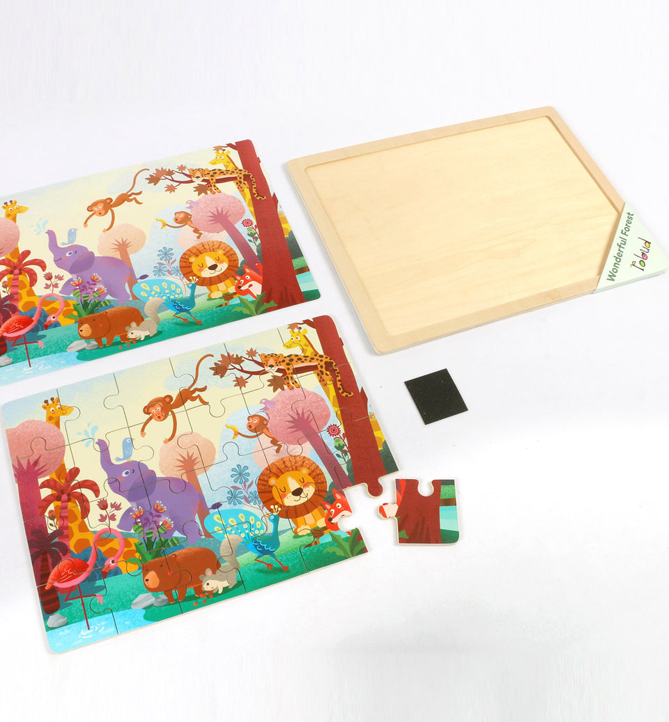 Hands Craft DY2402 Wooden Jigsaw Puzzle 24pc: Wild animals