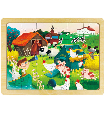 Hands Craft DY2404 Wooden Jigsaw Puzzle 24pc: Happy Ranch