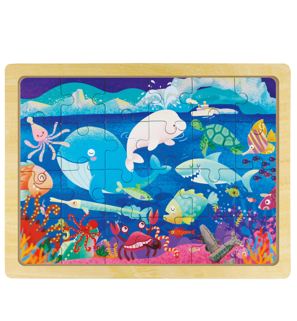 Hands Craft DY2405 Wooden Jigsaw Puzzle 24pc: Sea World