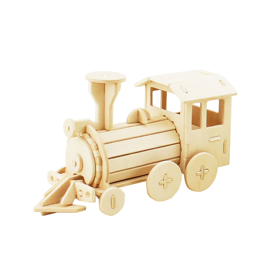 Hands Craft DZ08 DIY 3D Wooden Puzzle: Locomotive