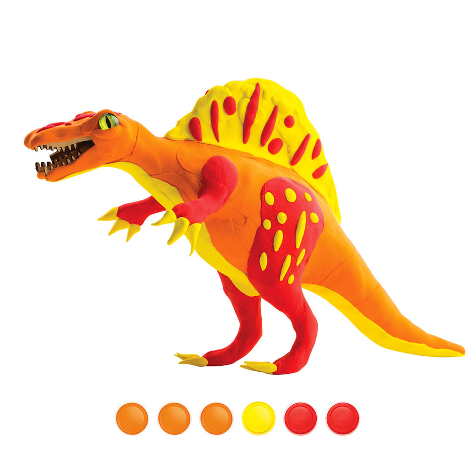 FY02 DIY 3D Wooden Puzzle with Clay Kit: Spinosaurus