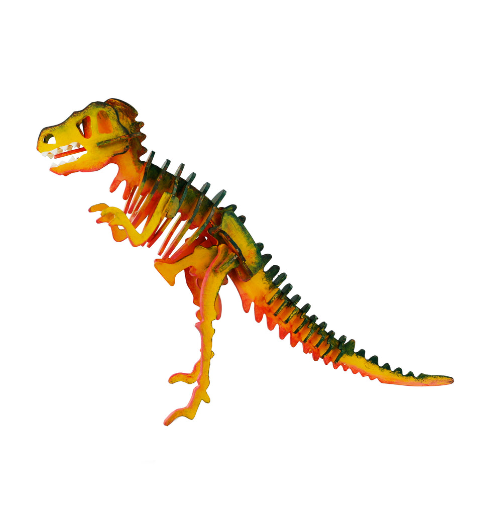 HC201 3D Wooden Puzzle Paint Kit: T-Rex