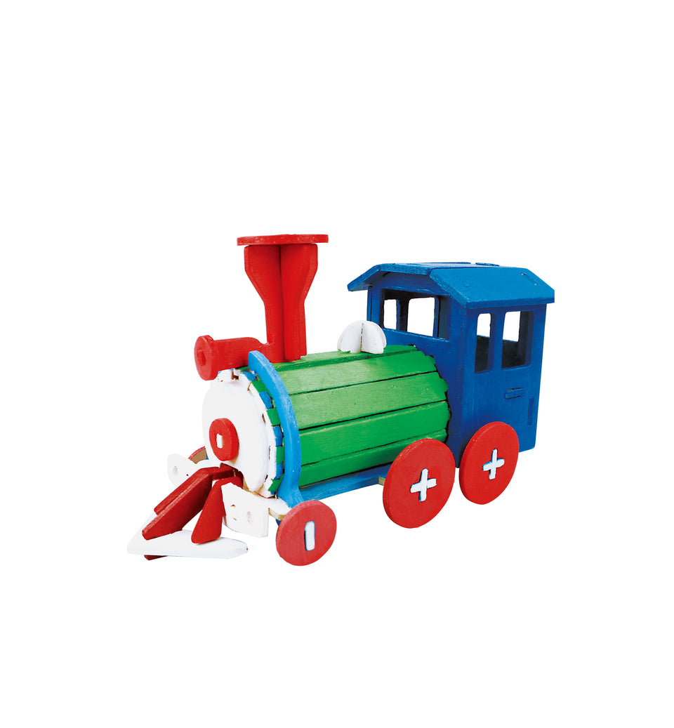 HC251 3D Wooden Puzzle Paint Kit: Locomotive