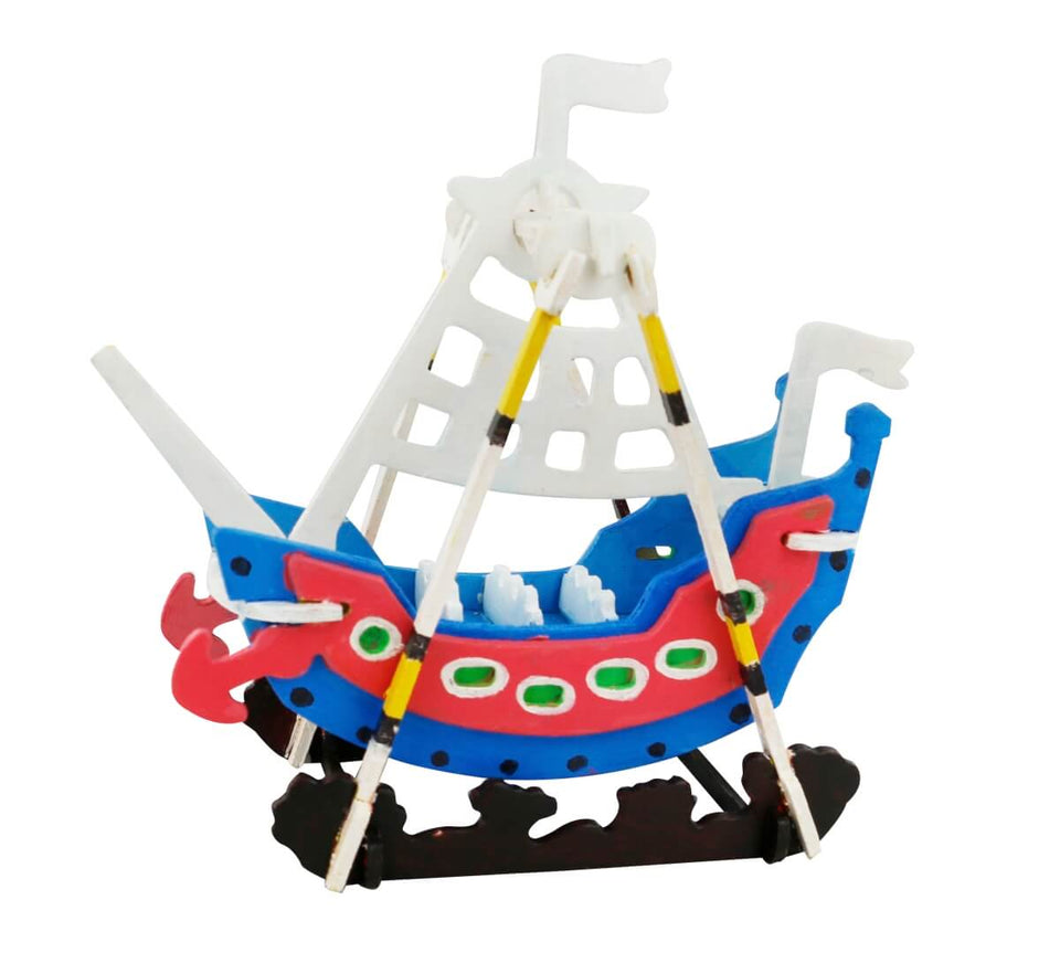 HC258 3D Wooden Puzzle Paint Kit: Swing Boat