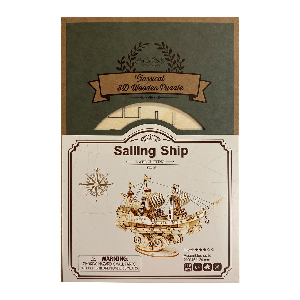 TG305, Modern Laser Cut: Sailing Ship