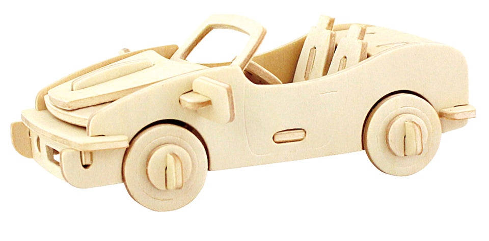 Hands Craft JP150 DIY 3D Wooden Puzzle: Racing Car