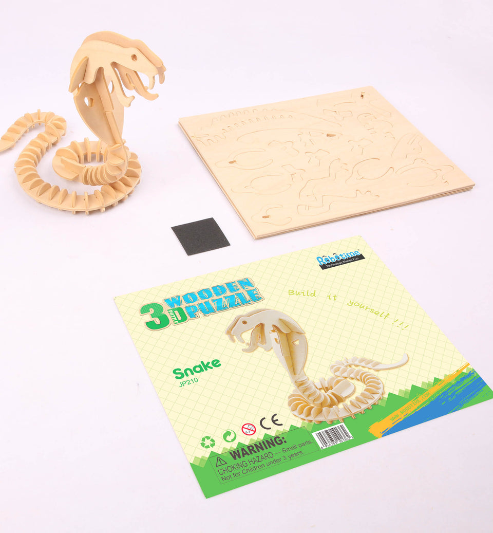 Hands Craft JP210 DIY 3D Wooden Puzzle: Snake