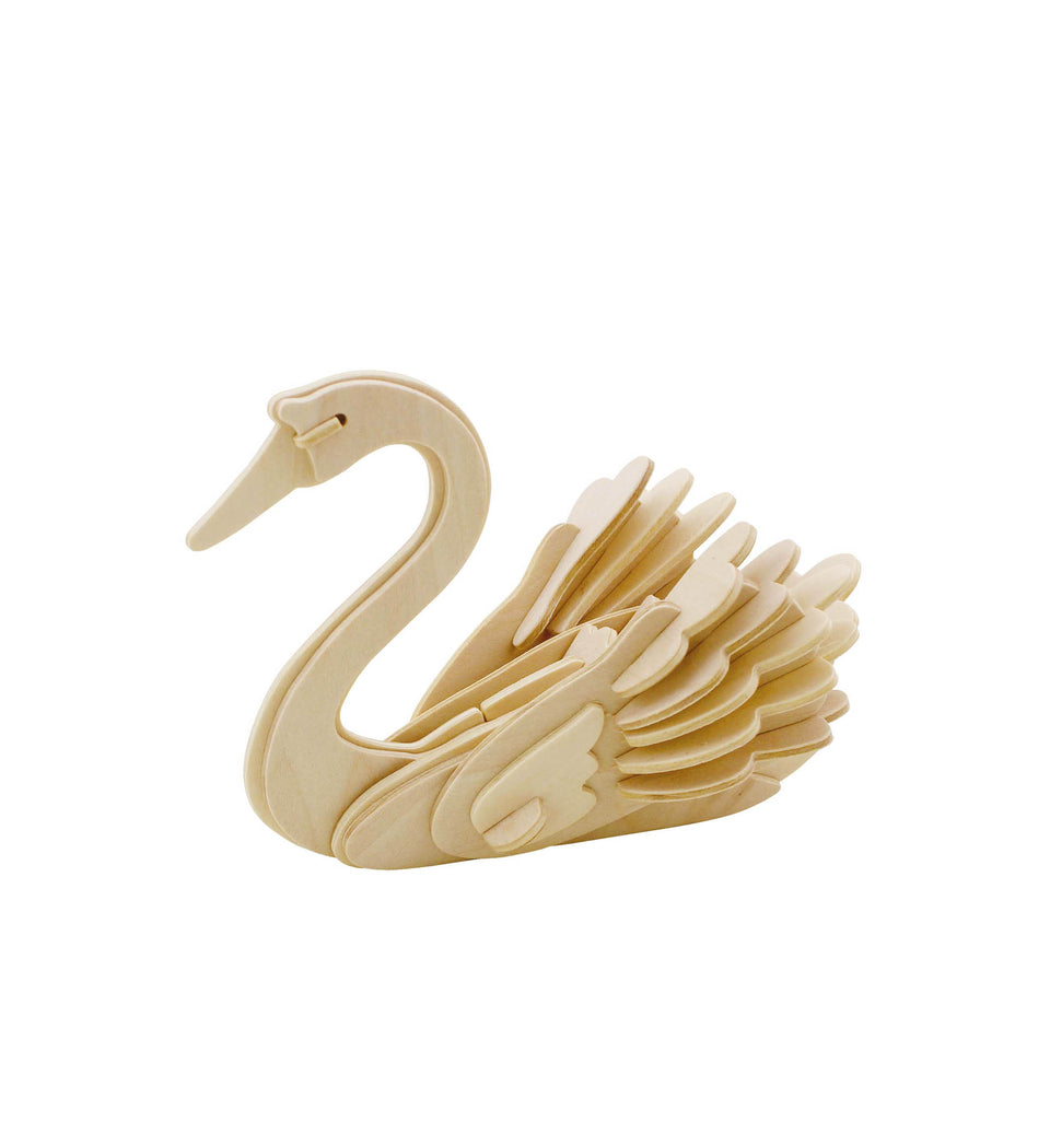 Hands Craft JP213 DIY 3D Wooden Puzzle: Swan