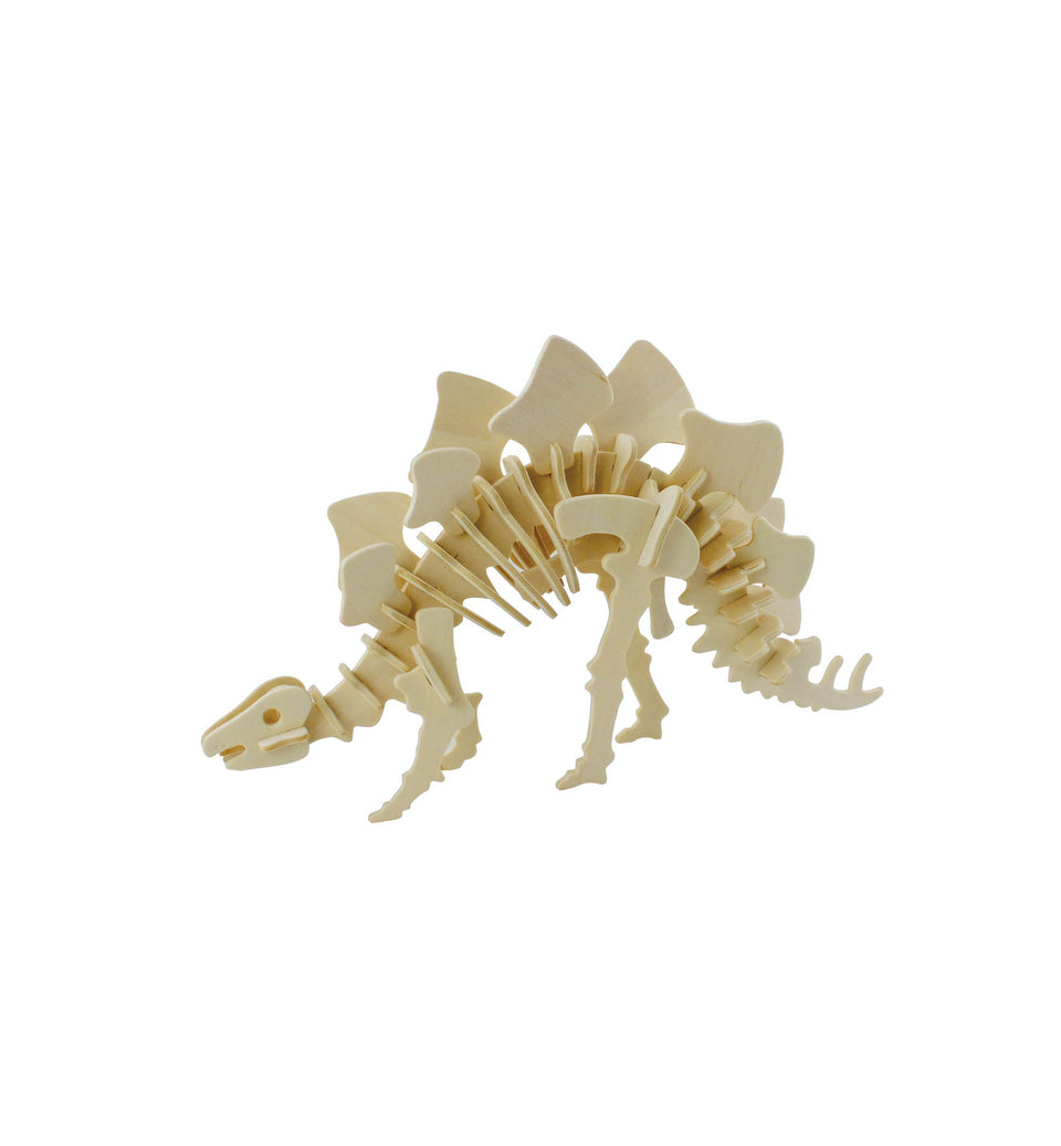 Hands Craft JP221 DIY 3D Wooden Puzzle: Stegosaurus