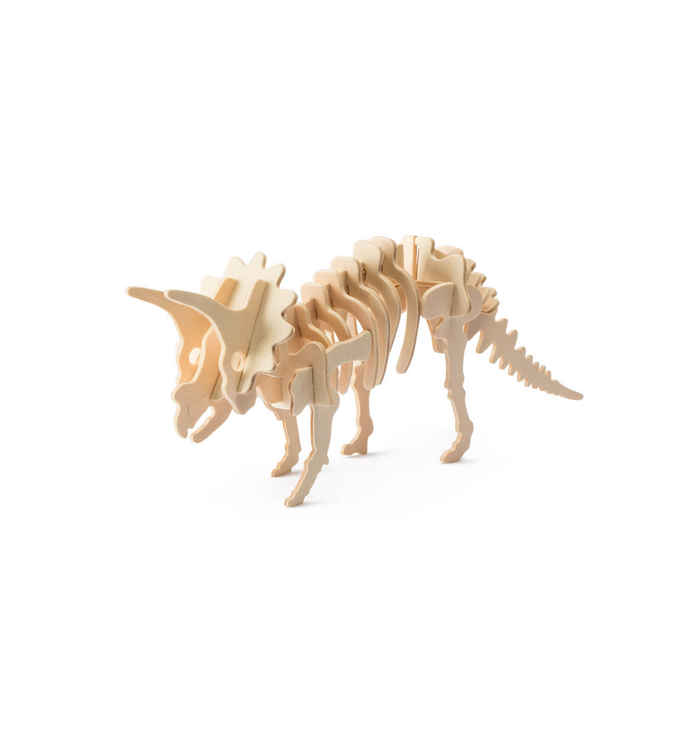 Hands Craft JP230 DIY 3D Wooden Puzzle: Triceratops