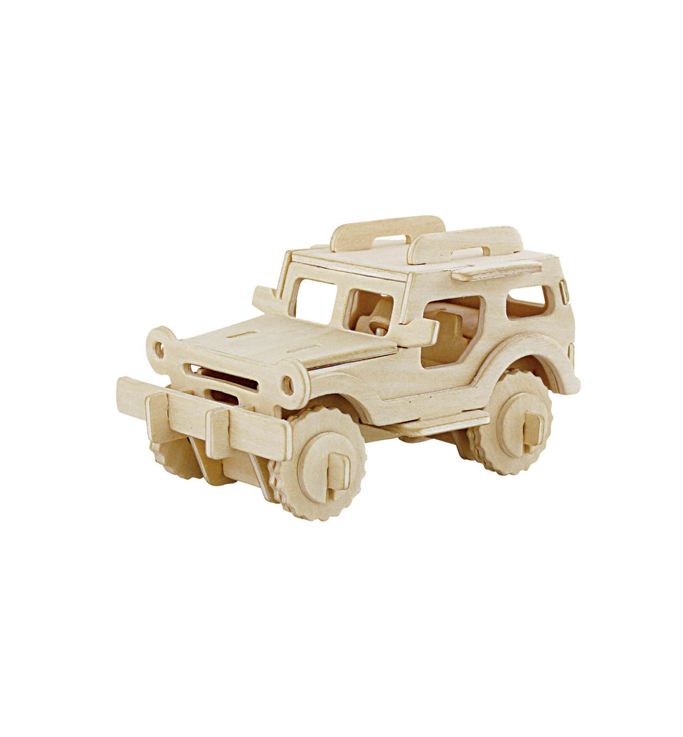 Hands Craft JP232 DIY 3D Wooden Puzzle: Jeep