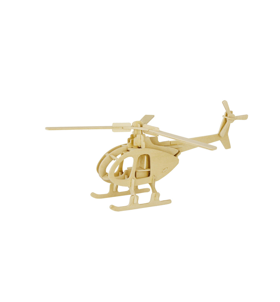 Hands Craft JP233 DIY 3D Wooden Puzzle: HELICOPTER