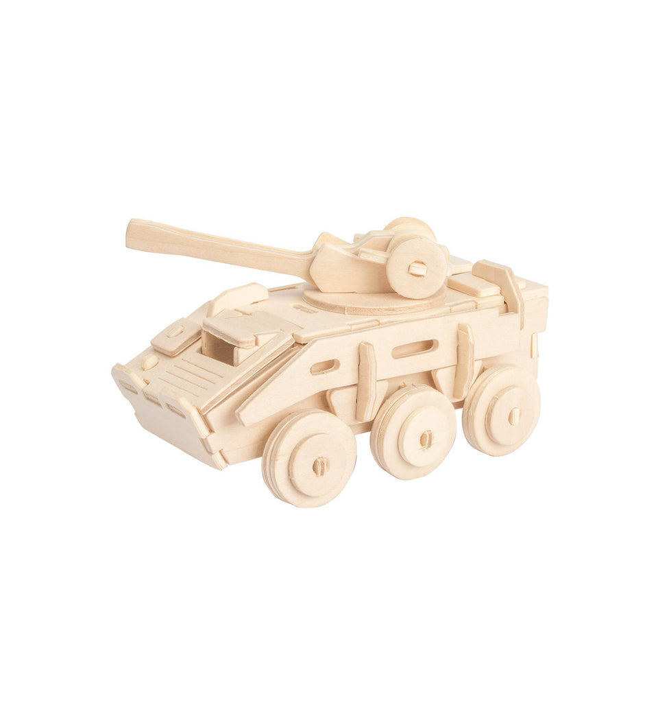 Hands Craft JP236 DIY 3D Wooden Puzzle: Armored Vehicle
