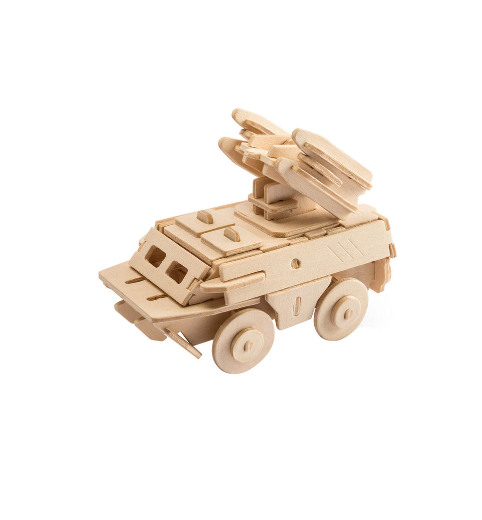 DIY 3D Wooden Puzzle: Anti-Aircraft Vehicle (JP237)