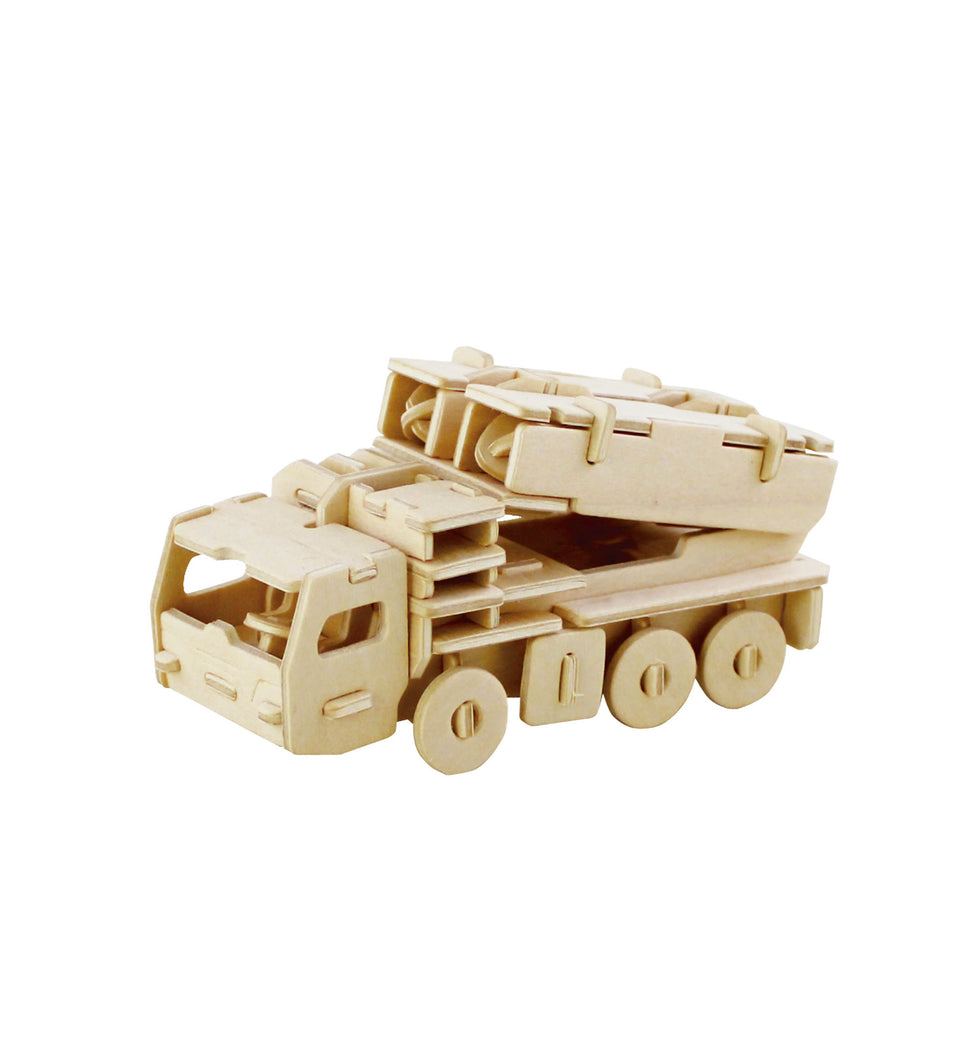 Hands Craft JP242 DIY 3D Wooden Puzzle: Missile Truck